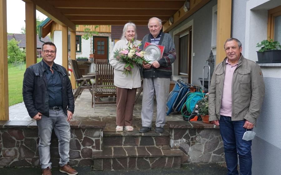 Diamantene Hochzeit: Franz und Irmgard Halb