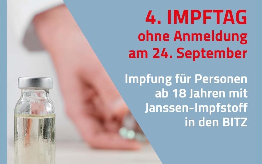 4. Impftag ohne Anmeldung am 24. September in den BITZ